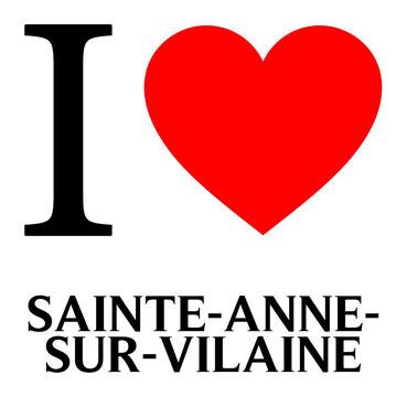j'aime sainte anne sur vilaine écrit avec un coeur rouge