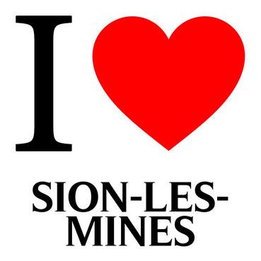 j'aime sion les mines écrit avec un coeur rouge