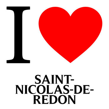 j'aime saint nicolas de redon écrit avec un coeur rouge
