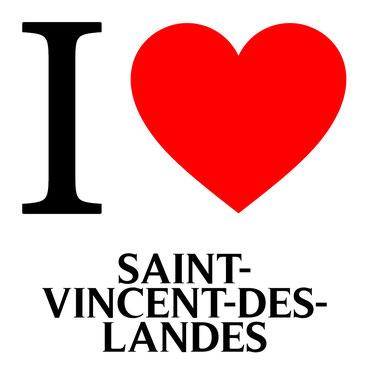 j'aime saint vincent des landes écrit avec un coeur rouge