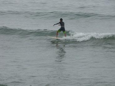 なかなか潮が引くまでに時間が無かったけど、乗れて良かったね!TKM君