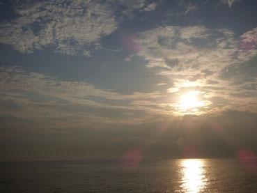 今日も夕日がきれいな予感。