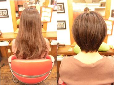ショートボブ | 長い髪の毛がトレンドだった彼女をバッサリイメチェン-横浜人気美容室YUME-YUI~夢結~