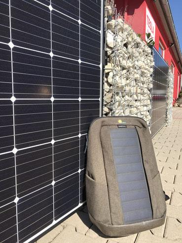 Der iKratos Sunnybag mit Solarmodul to go © iKratos