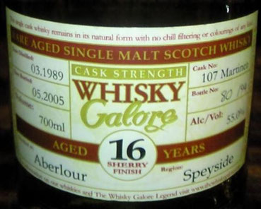 Duncan Taylor Whisky Galore 1989, 16yo, cask 107