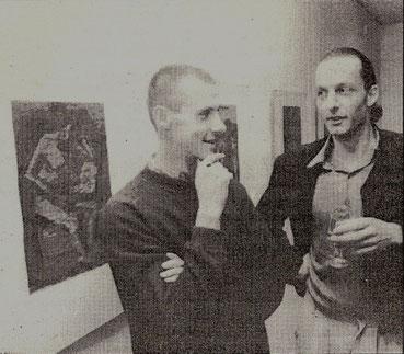 mit Olaf Böhm-Dores 1992 im Museum Greifswald