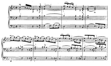Partituur, Bach, Drie-eenheid