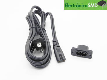 cable corriente monitor pc computadora, cable alimentacion PC, guatemala, electronica, cable ac