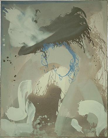 Erlkönigs Spur - Acryl auf Leinwand, 2000 (100x75)