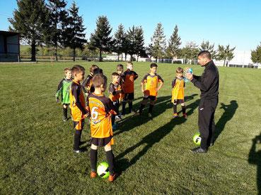 Nos U11 étaient en plateau à Vendeuvre sous la responsabilité de coach Kader
