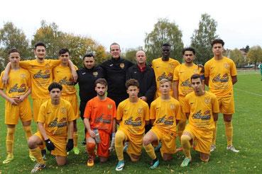 L'équipe U19 jouait le 2nd tour de la coupe Gambardella