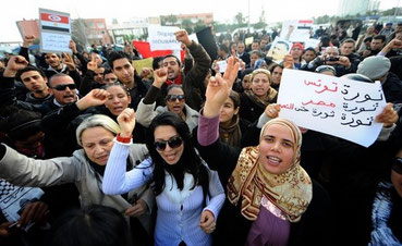 Folkeopstanden i Tunesien, marts  2011