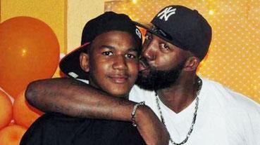 Trayvon Martin med hans far