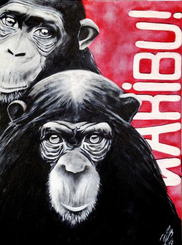 """""""Karibu! - Willkommen"""", 2013,  acrylic on canvas, 60x80"""
