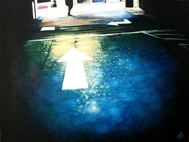 """One Way"", 2012,  acrylic on canvas, 60x80"