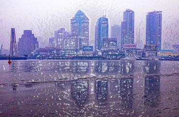 Shanghai (Chine) : une mégalopole face à son estuaire (Photo : J-P Ducrotoy)