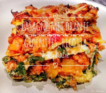 Lasagne met ricotta, gehakt en veggies
