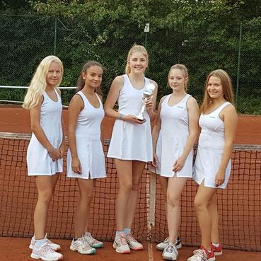 Es spielten (von links nach rechts): Mia Heseding, Lara Srur, Sara Helene Germann, Laura Modrok, und Isa Mester