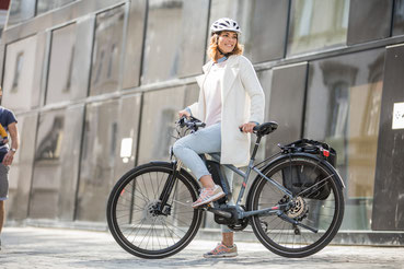 City e-Bikes in der e-motion e-Bike Welt in Lübeck