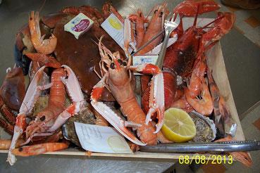 plateau de fruits de mer avec homard et tourteau