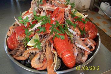 plateau de fruits de mer avec homard de 480 gr part pers