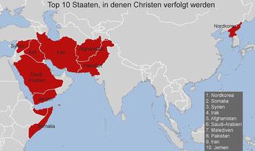 Weltverfolgungsindex Top 10