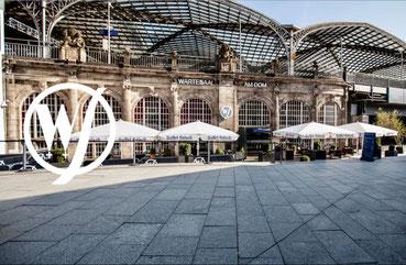 Der Wartesaal am Dom - Location im historischen Teil des Kölner Hauptbahnhofs.
