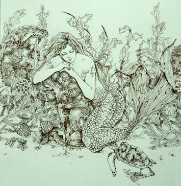 Meerjungfrau Skizze by Erdbeerfröschchen