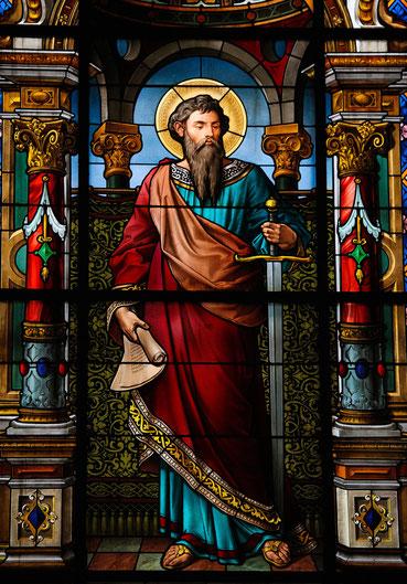 Kirchenfenster in der Deutschen Kirche in Stockholm