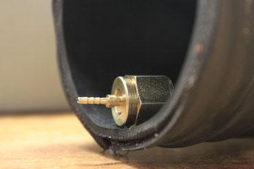 Hydraulikschlauch / Nippel / Armatur Grössenverhältniss