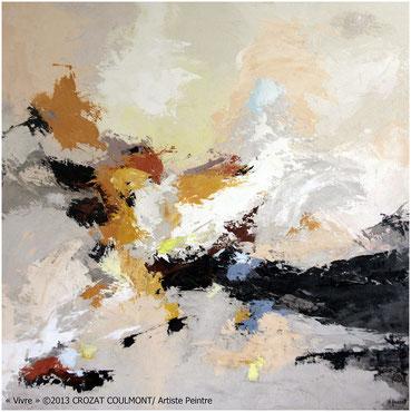 Artiste Peintre Français- Abstraction Contemporaine- Peinture (Enduit de chaux/ bois)