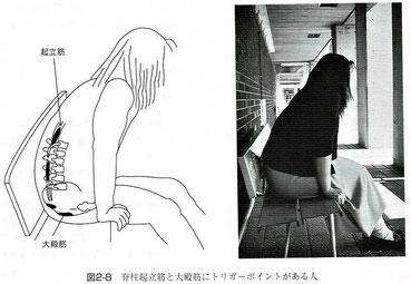 大殿筋や 脊柱起立筋にトリガーポイントがある場合の座り方
