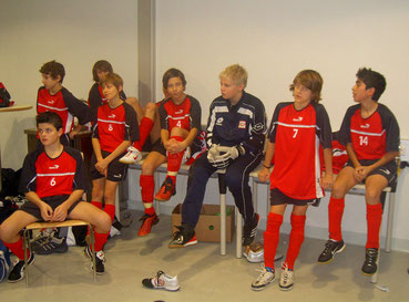 Philipp im Kreise der LAZ-Jungs. Damals noch mit der Nr. 7 unterwegs.  (Foto: Privat)