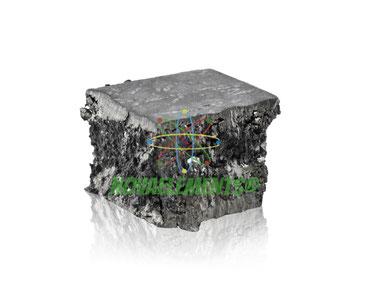 gadolinium metal, gadolinium chunk, gadolinium natural nugget, gadolinium metal for element collection, where to find gadolinium metal, gadolinium ampoule, gadolinium acrylic cube, nova elements gadolinium