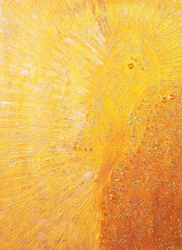 aus der Sonne geboren 30x40cm Acryl