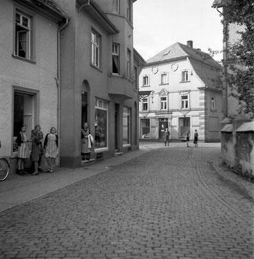 Historische Aufnahme der Straße Breite Techt in Attendorn