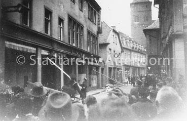 Historisches Foto Novemberpogrom 1938 in Attendorn.