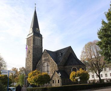 Die evangelische Erlöserkirche in Attendorn
