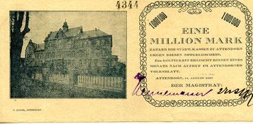Das Attendorner Notgeld im Jahr 1923