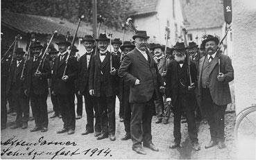 Historische Aufnahme des Attendorner Schützenfestes aus dem Jahr 1914