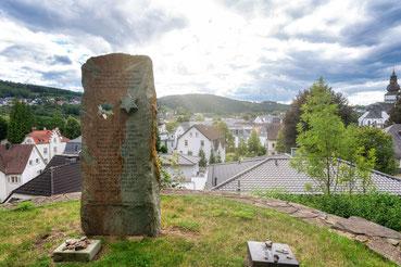 Gedenkstele auf dem Jüdischen Friedhof in Attendorn