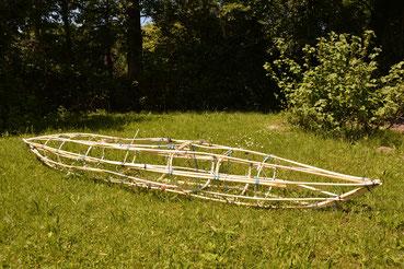 Kajak aus Weidenholz