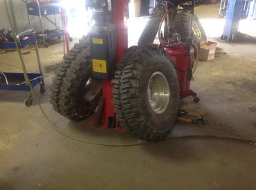Oversized tires for the mud truck