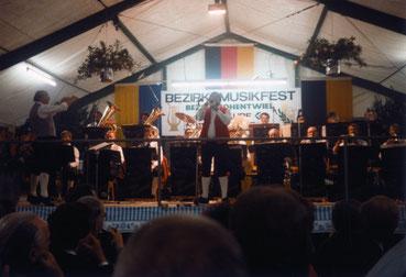 Auftritt des Startrompeters Walter Scholz am Bezirksmusikfest