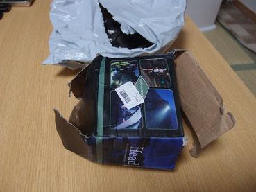 到着後、破損していた箱
