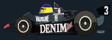 Michelle Alboreto by Muneta & Cerracín - Tyrrell 011 - Ford Cosworth V8