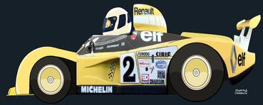 Didier Pironi by Muneta & Cerracín - Renault Alpine A442B