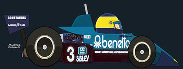 Michelle Alboreto by Muneta & Cerracín - Tyrrell 011 - Ford Cosworth V8