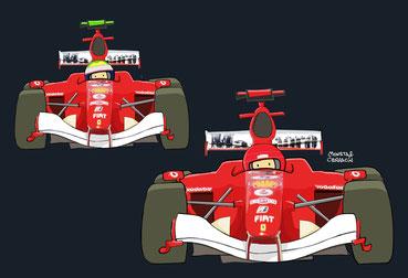 Schumacher & Massa by Muneta & Cerracín