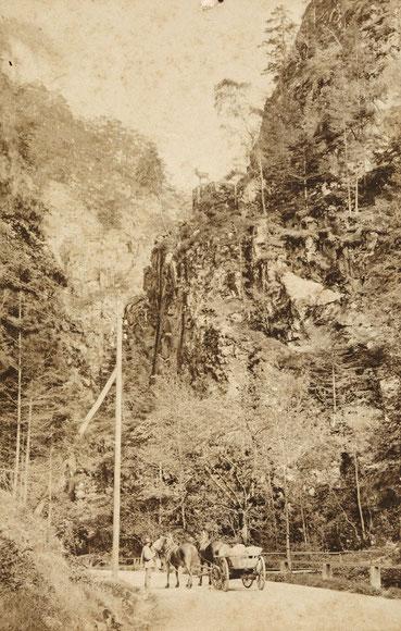 Hirschsprung im Höllental, Foto von P. Bartmann 1887
